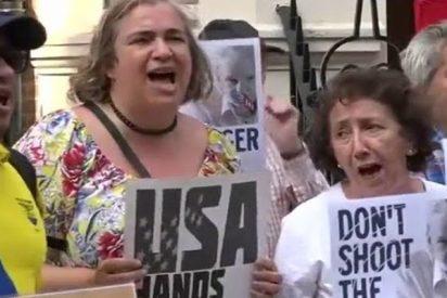 Protestas en Londres en apoyo a Assange ante la posible pérdida del asilo político