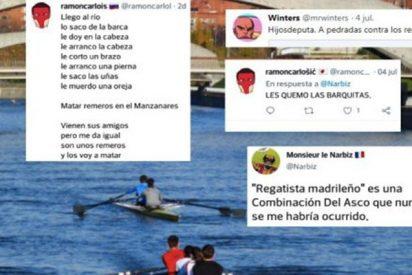 """La jauría podemita se lanza contra los remeros que quieren entrenar en el Manzanares: """"Empalemos a estos subnormales"""""""