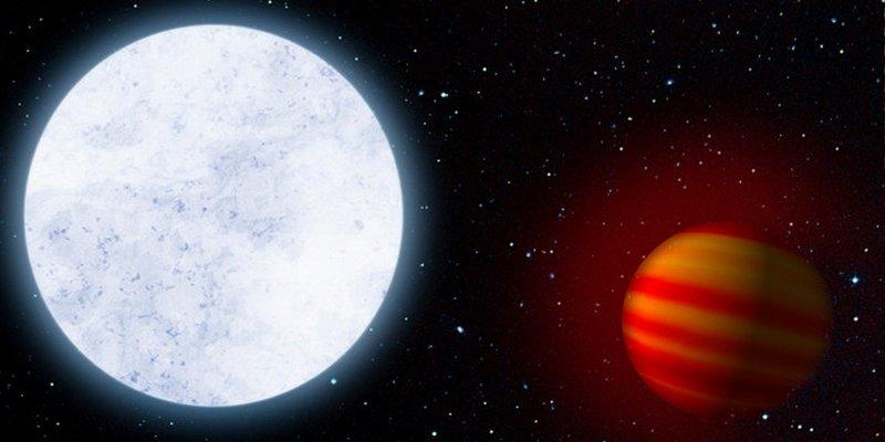 Así es el exoplaneta más caliente arrastrado hacia su estrella