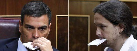 El plan secreto de Sánchez para que Iglesias mame las ubres del Estado y no se ponga de mala leche