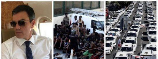 El indolente 'apostol del Aquarius' no está para fotos en Ceuta ni con ciudadanos bloqueados por taxistas