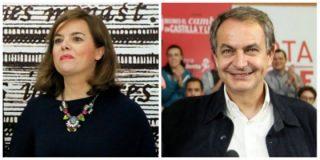 La 'puñalada' de Zapatero a Soraya: con su apoyo ha dejado a la vista la ideología semidesnatada de la pepera