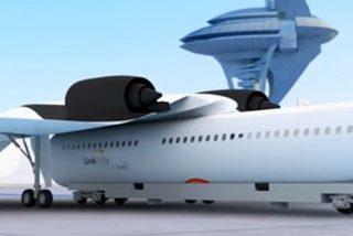 Así es el 'tren volador' con alas desmontables