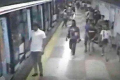 Bandas Latinas: Salvaje pelea a machetazos en el Metro de Madrid