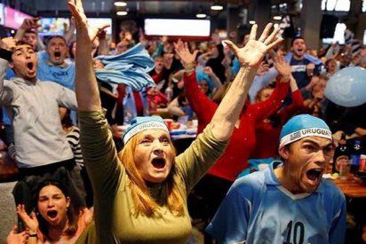 Uruguay estalla en éxtasis después de eliminar a Portugal