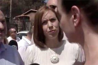 """Tremendo rapapolvo de una afectada por incendios a Ábalos: """"Míreme a los ojos y prometa que habrá ayudas"""""""