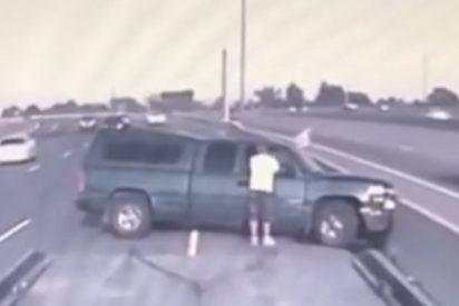 Graban este violento accidente en la carretera más transitada de Canadá
