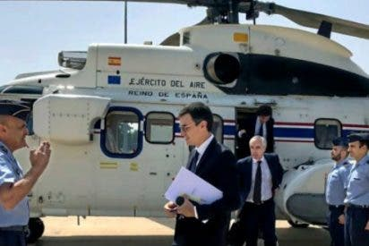 """Los viajes de lujo de Sánchez: """"Se fue en avión de 'marchuki' y en helicóptero a Toledo, al lado de Madrid"""""""