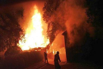 Un nueva iglesia incendiada en La Araucanía