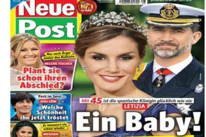 Los alemanes afirman ahora que la Reina Letizia está embarazada de su tercer hijo