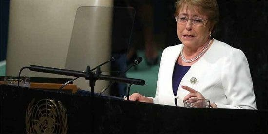 Expresidenta chilena Michelle Bachelet nominada como alta comisionada de la ONU