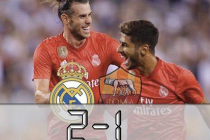 Un Real Madrid que asusta tumba a la Roma con Bale y Asensio matadores