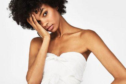 Bershka ya tiene a la venta su primer vestido de novia por menos de 40 euros