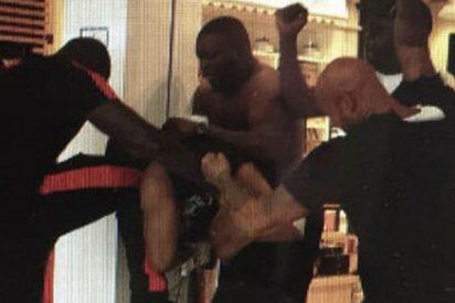 Está es la salvaje pelea entre los raperos Booba y Kaaris en el aeropuerto de París