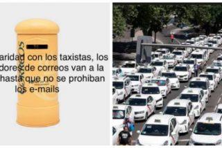 Los cachondos de Correos le meten un buen zasca a los taxistas por su absurda huelga