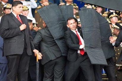 Así defiende la guardia del dictador al cobardíca Maduro