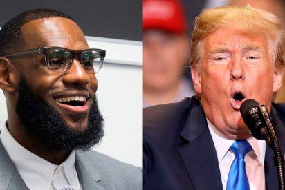 'Fuego cruzado' entre LeBron James y Donald Trump en las redes sociales