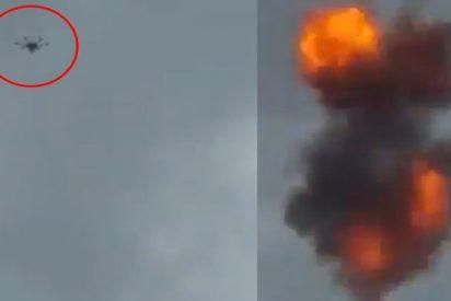Así fue el momento exacto de la explosión del dron durante el supuesto atentado contra el dictador Maduro