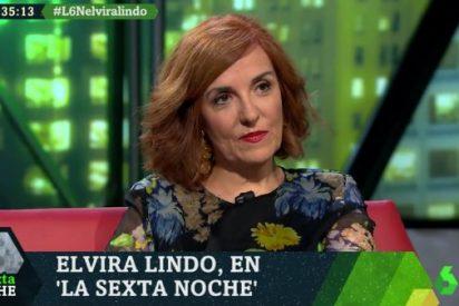 """Elvira Lindo se olvida de que ella escribía para el ex franquista Cebrián y dice que le """"sorprende que todavía haya falangistas"""""""