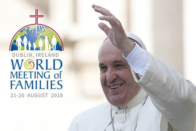 Familias de todo el mundo esperan al Papa en Dublín
