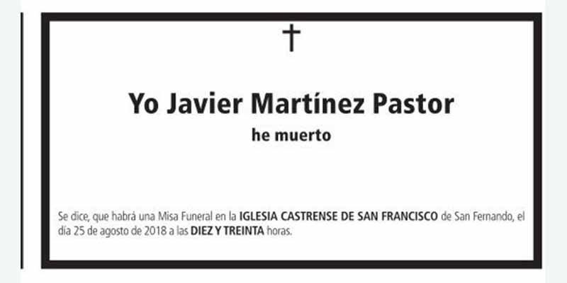 Cachondeo general en las redes sociales con esta esquela publicada en el 'Diario de Cádiz'