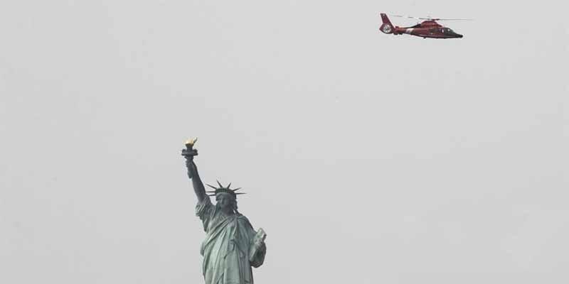 El terrible momento del incendio en la Estatua de la Libertad