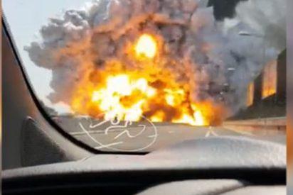 Así fue la explosión en Bolonia grabada desde muy corta distancia
