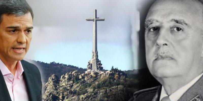 Pedro Sánchez tiene en el cajón un informe del PSOE que desaconseja la exhumación del cadáver de Franco
