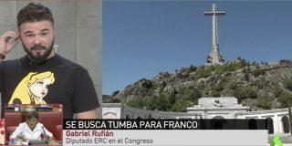 Estupefacción por lo que ha dicho Gabriel Rufián sobre el Valle de los Caídos en pleno directo en laSexta