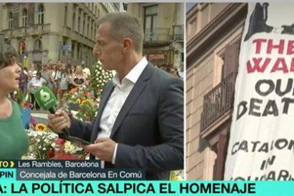 Bochornoso Colau style: les vale con que no hubiera boicot, se lavan las manos con las pancartas y aplauden los actos de los 'presos políticos'