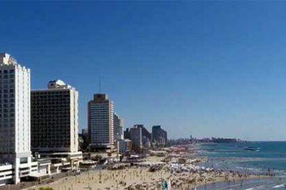 La belleza de la costa de Israel a vista de Dron