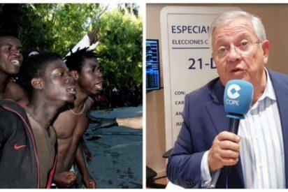 Las 'soluciones' de los tertulianos de la COPE a la inmigración: 'comprar' al rey de Marruecos y repoblar pueblos con subsaharianos