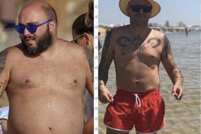 El antes y el después de Kiko Rivera tras adelgazar 42 kilos en un año