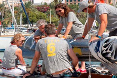 La Infanta Elena se embarca en el 'Titia' para disputar la 37 Copa del Rey Mapfre