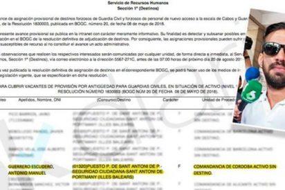 El Ministerio del Interior destina al guardia civil de La Manada a Ibiza 'por error'