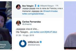 """Beatriz Talegón y Antonio Maestre se tragan un bulo sobre Arrimadas y en Twitter los masacran: """"¡Olé, viva el vino!"""""""