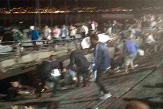 Al menos 130 heridos, cuatro de ellos graves, en el festival O Marisquiño.