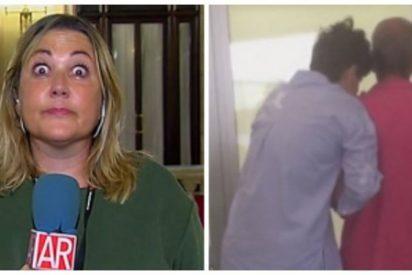 La prensa separatista condecora a Mayka Navarro por sus trolas en Telecinco sobre la guerra de los lazos