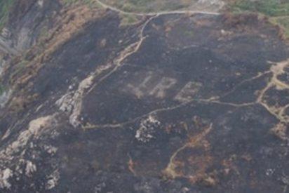Incendio forestal dejó al descubierto este mensaje de la Segunda Guerra Mundial oculto durante más de 70 años