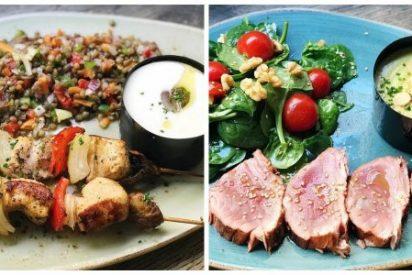 Mediodía con platos sanos para cuidarse pero sin pasar hambre