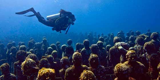 El Museo subacuático de arte contemporáneo más grande del mundo está en Cancún