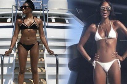 Así luce Naomi Campbell en bikini a sus 48 años