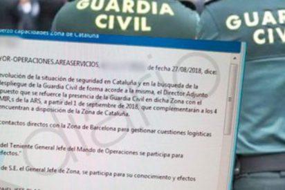 La Guardia Civil recibe orden de reforzar su presencia en Cataluña ante la 'situación de inseguridad'