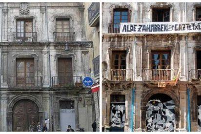 Cachorros abertzales 'okupan' un palacio del siglo XVIII en Pamplona con el amparo de Uxue Barkos
