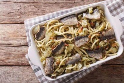 Pasta con sardinas o con le sarde. Receta siciliana