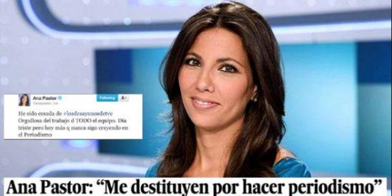 ¿Dónde está Ana Pastor clamando a gritos por los purgados de RTVE como lo hacía cuando la purgaron a ella?
