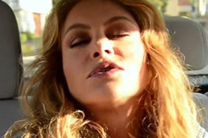 Paulina Rubio 'muere' por asfixia dentro de un coche