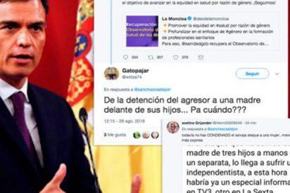 Pedro Sánchez sube este tuit sobre la salud de las mujeres y olvida la agresión a una mujer por quitar lazos