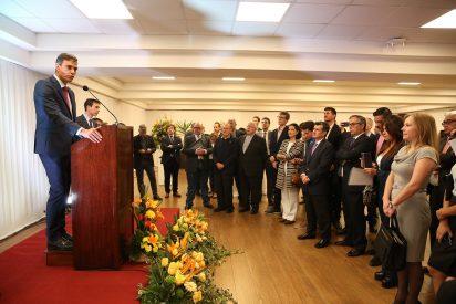 Pedro Sánchez visitó a Nicolás Castellanos en Santa Cruz de la Sierra