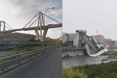 Más de 30 coches y 3 camiones caen al vacío al derrumbarse un puente en Génova